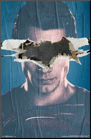 Batman Vs. Superman- Superman Teaser Mounted Print