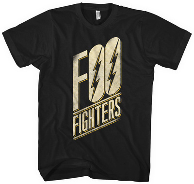 Foo Fighters- Slanted Black Logo Shirt