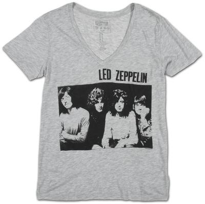 Womens: Led Zeppelin- Sitting Group V-Neck Womens V-Necks