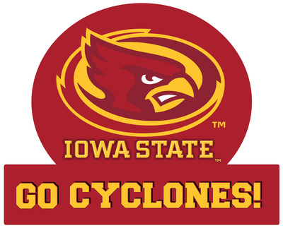 Iowa State Cyclones Jumbo Tailgate Peel & Stick Wall Decal