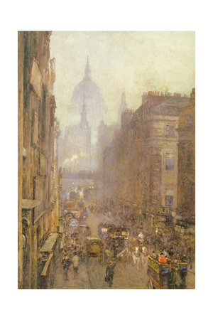 Fleet Street, 1892 Giclee Print by Rose Maynard Barton