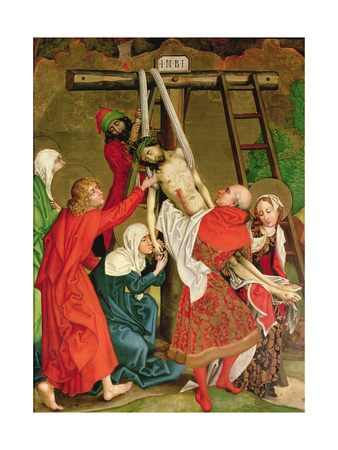 The Deposition, from the Altarpiece of the Dominicans, C.1470-80 Giclee Print by Martin Schongauer
