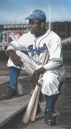 Jackie Robinson Minor League Royals Giclee Print by Darryl Vlasak