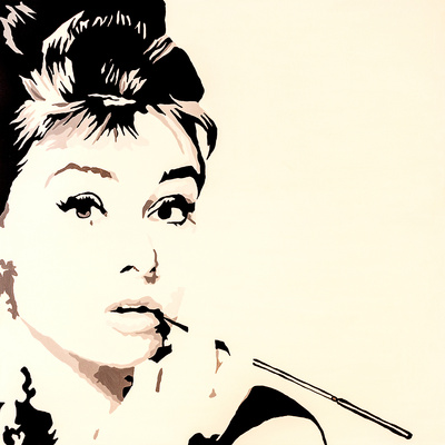 Just Smokin Audrey Hepburn Giclee Print by Pop Art Queen