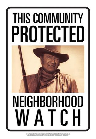 Protected By John Wayne Tin Sign