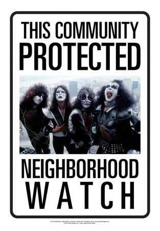 Protected By Kiss Tin Sign