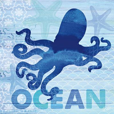 Sea Glass Octopus Prints by  Studio Bella