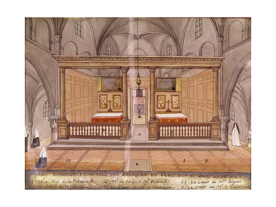 View of the Chancel and Altar, from 'L'Abbaye De Port-Royal', C.1710 Giclee Print by Louise Madelaine Cochin