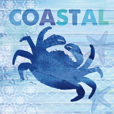 Sea Glass Crab Poster by  Studio Bella