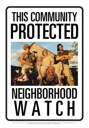 Protected By Sawyers Tin Sign