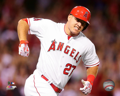 Mike Trout 2015 Action Photo