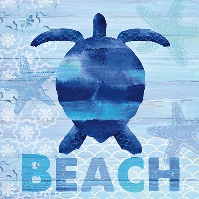 Sea Glass Turtle Prints by  Studio Bella