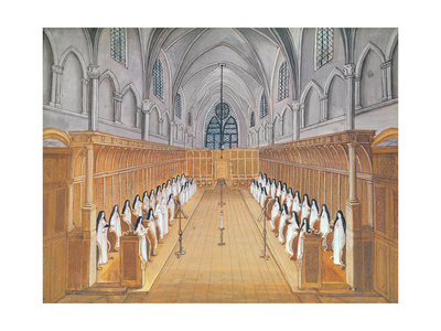 View of the Choir, from 'L'Abbaye De Port-Royal', C.1710 Giclee Print by Louise Madelaine Cochin