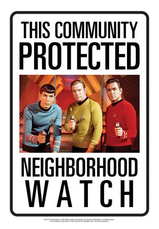 Protected By Star Trek Tin Sign