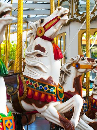 Carousel Horses at Yerba Buena Center for the Arts Metal Print by Sabrina Dalbesio