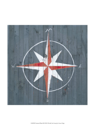 Nautical Plank III Print by Grace Popp