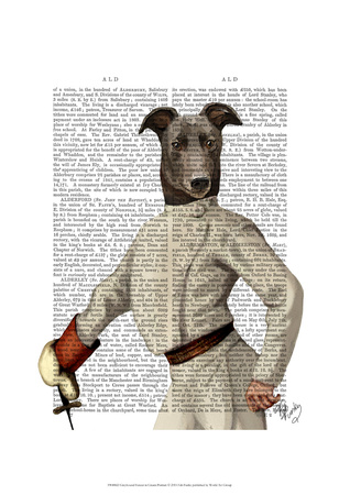Greyhound Fencer in Cream Portrait Posters by  Fab Funky