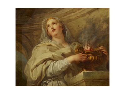 Vestal Virgin, C.1730 Giclee Print by Francois Lemoyne