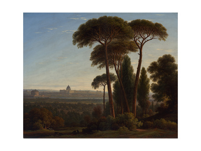 Rome with St. Peter's and the Castel Sant'Angelo, C.1821 Giclee Print by John Glover