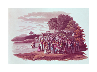 Anabaptist Ceremony in North America, 1819 Giclee Print by Jacques Milbert