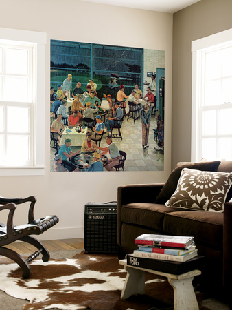 """""""Clubhouse on Rainy Day,"""" July 8, 1961 Wall Mural by Ben Kimberly Prins"""