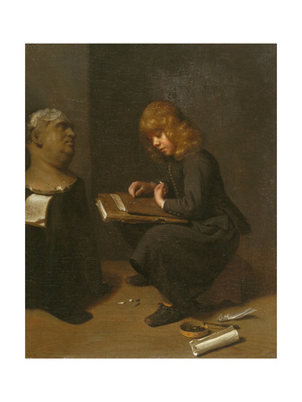 Boy Drawing before the Bust of a Roman Emperor, C.1661 Giclee Print by Michael Sweerts