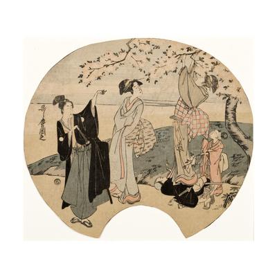 Viewing Cherry Blossoms, 1794-96 Giclee Print by Kitagawa Utamaro