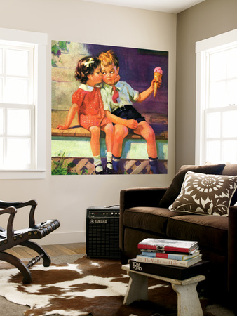 """""""Kiss for Ice Cream,""""June 1, 1936 Wall Mural by Henry Hintermeister"""