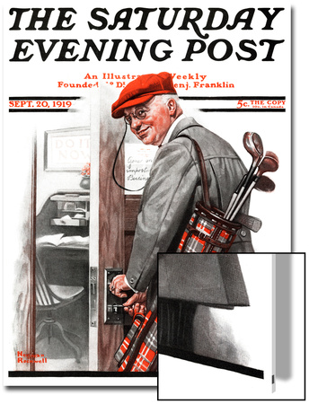 """""""Important Business"""" Saturday Evening Post Cover, September 20,1919 Prints by Norman Rockwell"""