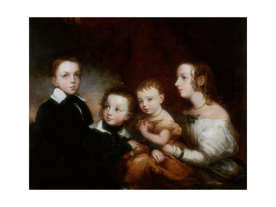 A Group of Children, C.1850 Giclee Print by Christina Robertson