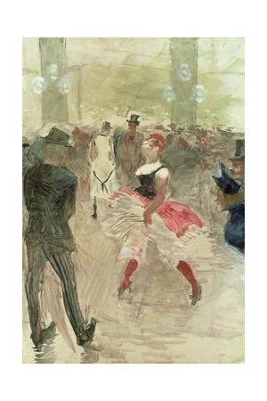 At the Elysee, Montmartre; a L'Elysee-Montmartre, 1888 Giclee Print by Henri de Toulouse-Lautrec