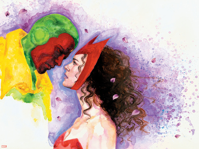 Avengers Finale No.1 Headshot: Vision and Scarlet Witch Posters by David Mack