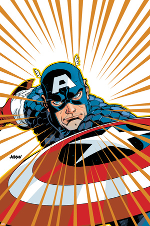 Captain America V4, No.27 Cover: Captain America Fighting Prints by Dave Johnson