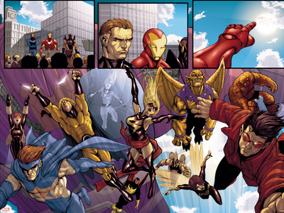 Avengers: The Initiative No.8 Group: Sentry Pósters por Stefano Caselli