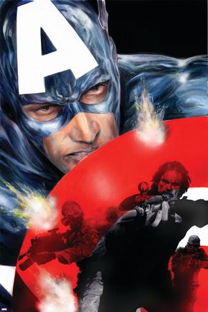 Captain America No.37 Cover: Captain America Print by Jackson Guice