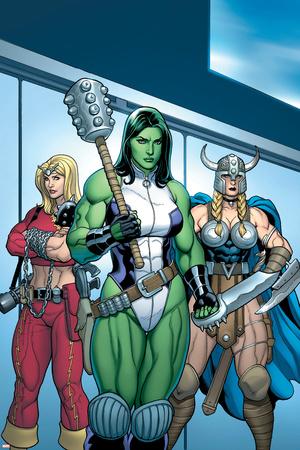 Hulk No.7 Group: She-Hulk, Valkyrie and Thundra Posters by Arthur Adams