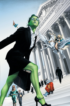 She-Hulk No.7 Cover: She-Hulk and Valkyrie Fighting Posters