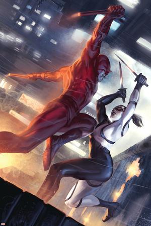 Daredevil No.113 Cover: Daredevil and Lady Bullseye Photo
