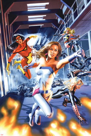 New Avengers Annual No.3 Cover: Jewel, Mockingbird, Spider Woman and Ms. Marvel Posters by Mike Mayhew