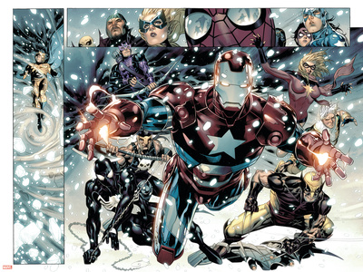 Free Comic Book Day 2009 Avengers No.1 Group: Iron Patriot Poster by Jim Cheung