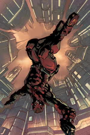 Daredevil 2099 No.1 Cover: Daredevil Crouching Poster by Pat Lee