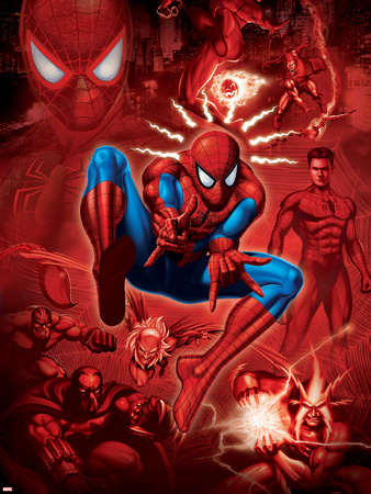 Spider-Man, Scorpion, Prowler, Vulture, Electro and Green Goblin in the City Posters