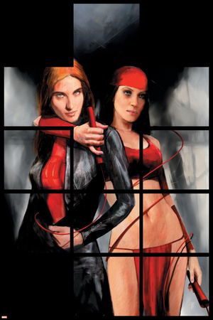 Daredevil The Murdock Papers No.80 Cover: Elektra and Black Widow Posters by Alex Maleev