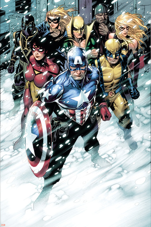 Free Comic Book Day 2009 Avengers No.1 Group: Captain America Posters by Jim Cheung