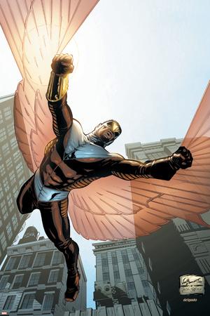 Captain America And The Falcon No.7 Cover: Falcon Posters by Joe Bennett