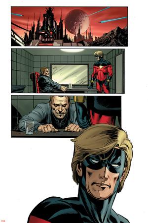 Captain Marvel No.3 Headshot: Captain Marvel Prints by Lee Weeks