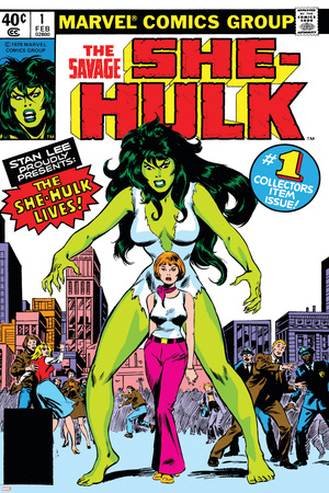 Hulk Family: Green Genes No.1 Cover: She-Hulk, Walters and Jennifer Prints by John Buscema