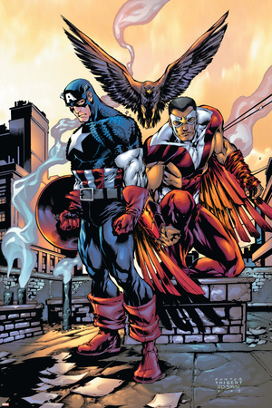 Captain America And The Falcon No.10 Cover: Captain America and Falcon Prints by Howard Porter