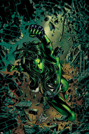 She-Hulk No.27 Cover: She-Hulk Posters by Mike Deodato