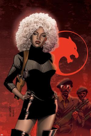 Black Panther No.34 Cover: Storm Prints by Salvador Larroca